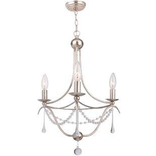 House of Hampton Braden 3-Light Candle-Style Chandelier