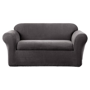 Stretch Metro Box Cushion Sofa Slipcover by ..