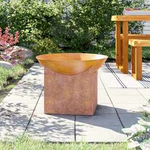 Kobe Steel Wood Burning Fire Pit By Sol 72 Outdoor