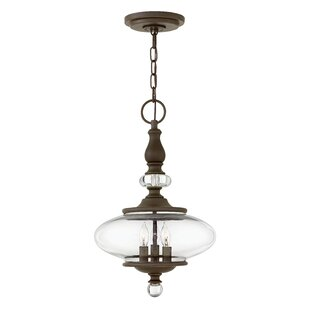 Patricia 3-Light Geometric Chandelier by Bungalow Rose