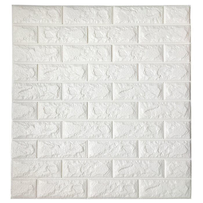 Liljenquist 3d Embossed Paintable Peel And Stick Wallpaper Panel