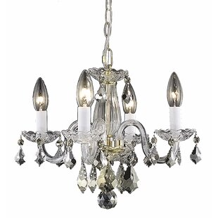 House of Hampton Lamy 4-Light Candle Style Chandelier