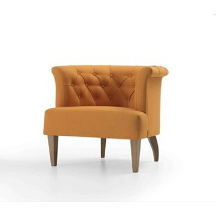 Keffer Wooden Armchair by Everly Quinn