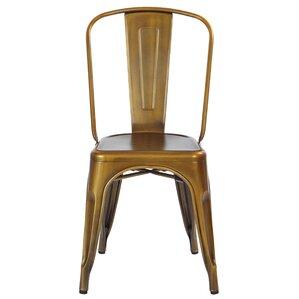 Krishtha Armless Metal Dining Chair (Set ..