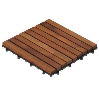 Baredecor Sample Ez Floor In Solid Teak Wood Wayfair