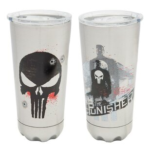 Marvel Punisher 20 oz. Stainless Steel Travel Tumbler
