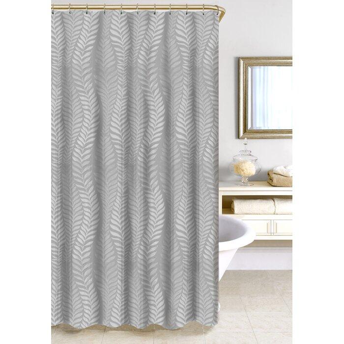 Homewear Linens Fern Jacquard Shower Curtain & Reviews | Wayfair.ca