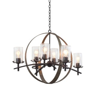 Read Reviews Irvine 8-Light Shaded Chandelier By Kalco