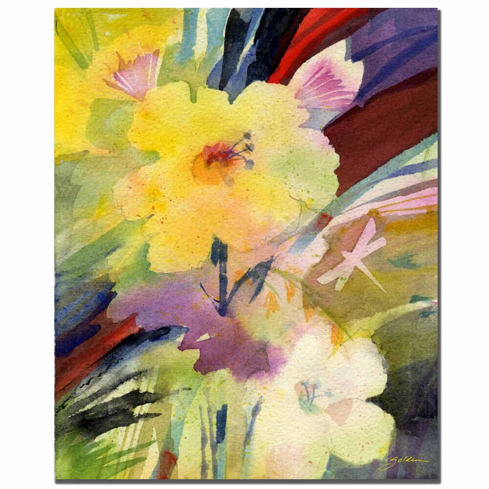 Trademark Art Yellow Dragonfly By Sheila Golden Framed Painting Print On Wrapped Canvas Wayfair