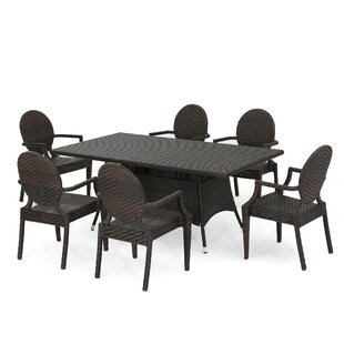 Aurelio Outdoor 7 Piece Dining Set by Oph..