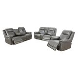 Annaliya 3 Piece Faux Leather Reclining Living Room Set by Ebern Designs