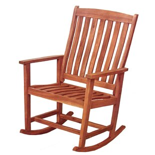 David Acacia Wood Outdoor Rocking Chair