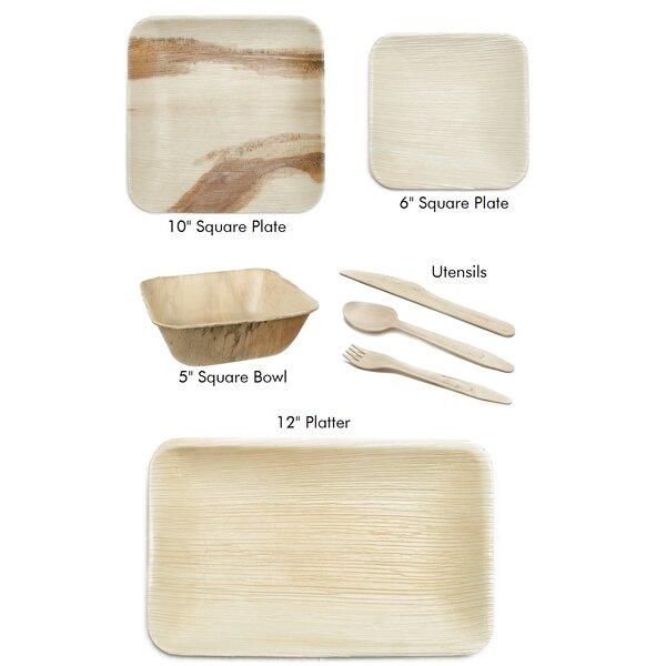 Leaf Fiber Palm Leaf Picnic Party Supplies Kit Wayfair