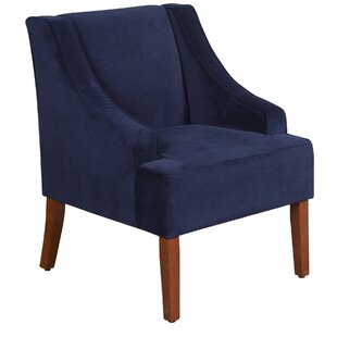 Contemporary Blue Velvet Accent Chair Creative