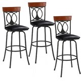 Hannum Adjustable Height Bar Stool (Set of 3) by Canora Grey