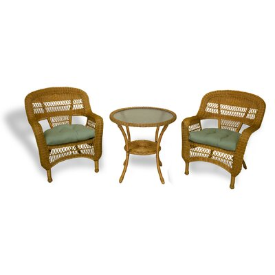 Ray 3 Piece Bistro Set With Cushions by Alcott Hill Today Sale Only