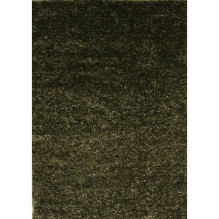Best Choices One-of-a-Kind Alia Shag Oriental Hand-Knotted Wool Black Area Rug ByRed Barrel Studio