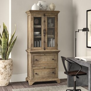 Ellenton 2 Drawer Lateral Filing Cabinet with Hutch