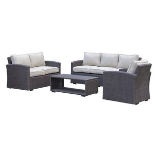 Behan 4 Piece Sofa Set with Cushions