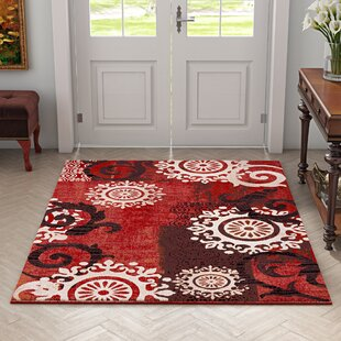 Guide to buy Classen Medallion Burgundy Area Rug By Fleur De Lis Living