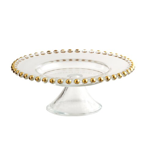 Bead Foot Plate Cake Stand by Elegance by Leeber