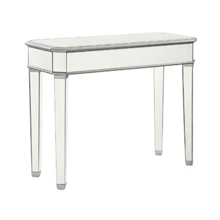 Review Orpha Glass Top Console Table By Rosdorf Park