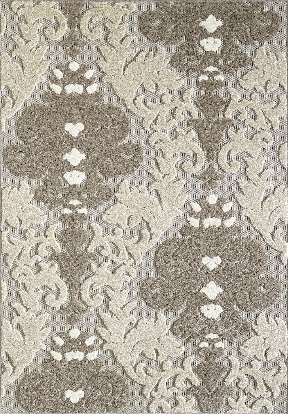 Fleur De Lis Living Stowers Damask Beige Area Rug Wayfair