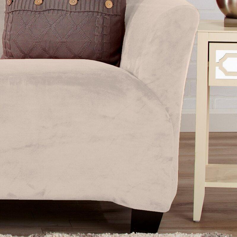 Velvet Plush Form Fit T-Cushion Sofa Slipcover