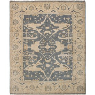 Big Save One-of-a-Kind Doggett Hand-Knotted 8'3 x 10'1 Wool Dark Gray/Beige Area Rug By Isabelline