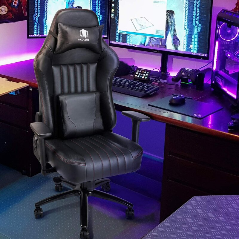 VON RACER Big And Tall 400Lb Memory Foam Gaming Chair ...