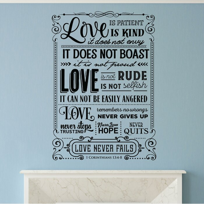 Hanley Love Is Patient Love Is Kind Bible Verse Wall Decal