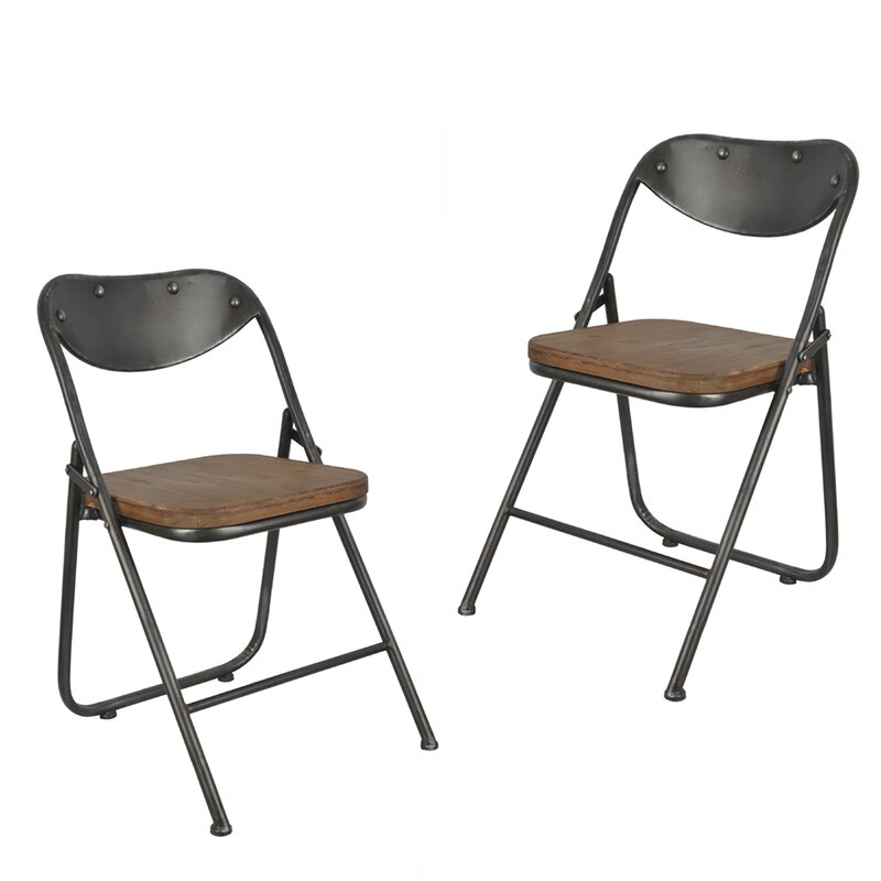Ordinaire Fortier Vintage Wood Seat Folding Chairs