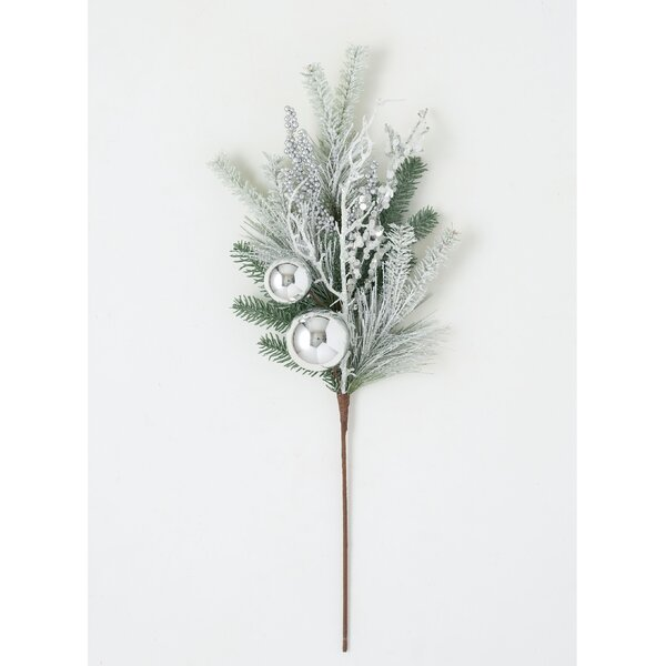 Christmas Artificial Frosted Foliage Berries Pine Spruce Cones Spray Picks