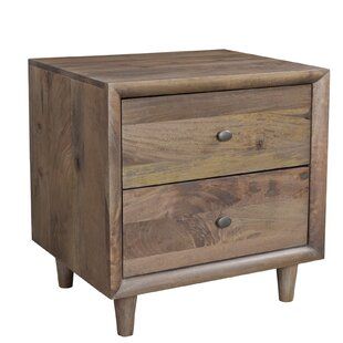 Union Rustic Rocco 2 Drawer Nightstand