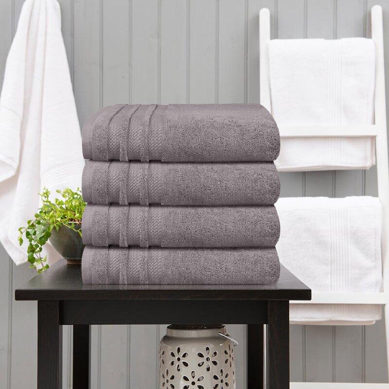 Finesse 4 Piece 100 Cotton Bath Towel Set Birch Lane
