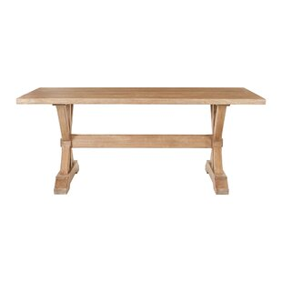 Farmhouse Trestle Solid Wood Dining Table Harbor House