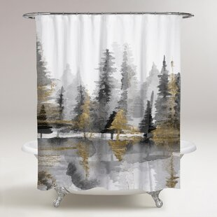 Rocheleau Reflection III Shower Curtain By Loon Peak