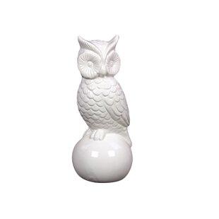 Ceramic Owl Gloss White
