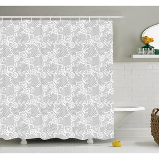 Look for Islamic Art Inspired Oriental Turkish Lace Pattern with Traditional Impression Image Shower Curtain Set By Ambesonne