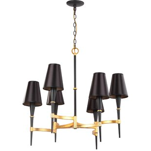 San 6-Light LED Shaded Chandelier by Everly Quinn