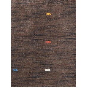 Ry Hand Knotted Wool Brown Area Rug