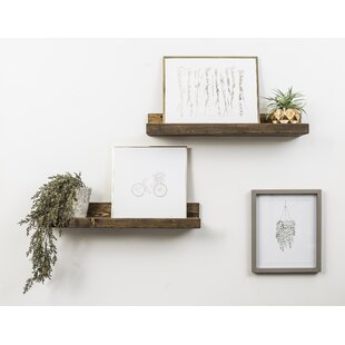 Shallow Rustic Luxe 2 Piece Wall Shelf Set
