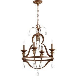 Lark Manor Jaune 4-Light Candle Style Cha..