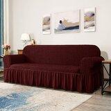 Seersucker Box Cushion Sofa Slipcover by Red Barrel Studio®