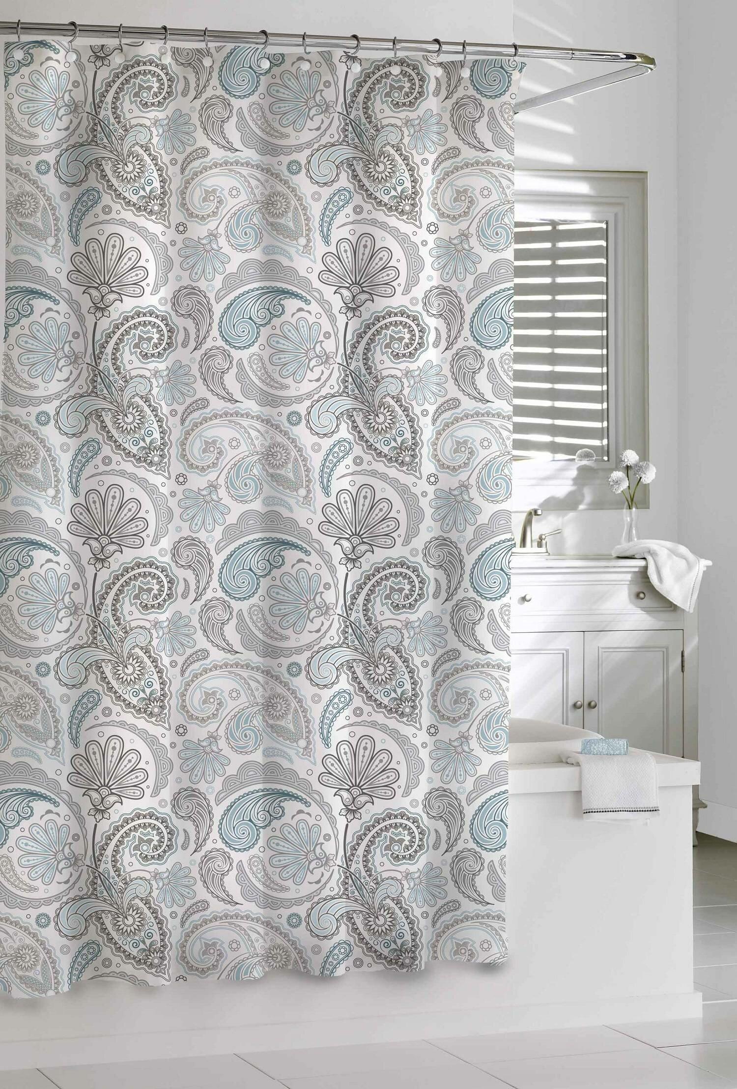 Aderyn Paisley 100 Cotton Single Shower Curtain