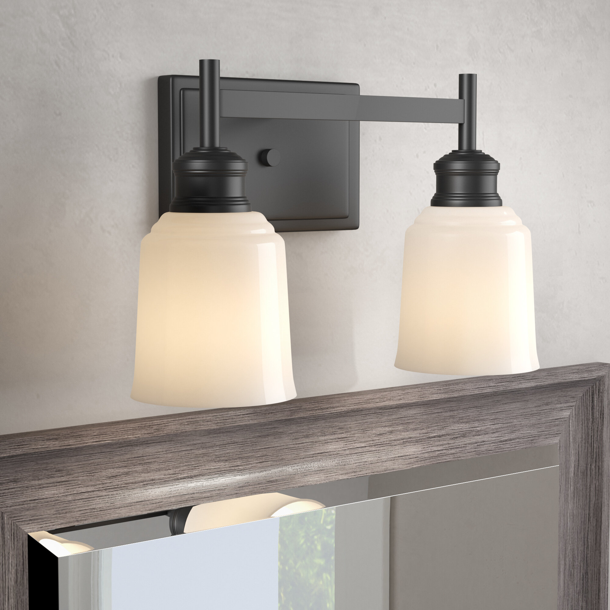 Winston Porter Zeke 2 Light Vanity Light Reviews Wayfair