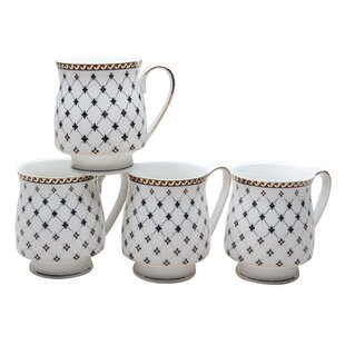 Krehbiel Trellis 12 Oz. Coffee Mug (Set of 4)