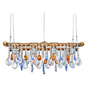 8-Light Crystal Pendant by Michael McHale Designs