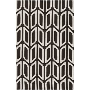 Best Blohm Black/White Area Rug By Wrought Studio