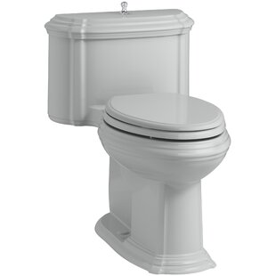 Check Prices Portrait Comfort Height One-Piece Compact Elongated 1.28 GPF Toilet with Aquapiston Flush Technology, Lift Knob Actuator and Glenbury Quiet-Close Seat with Quick Release Functionality By Kohler